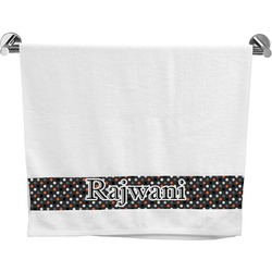 Gray Dots Bath Towel (Personalized)
