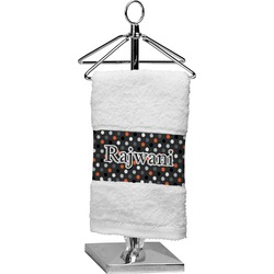 Gray Dots Finger Tip Towel (Personalized)