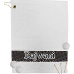 Gray Dots Golf Towel (Personalized)