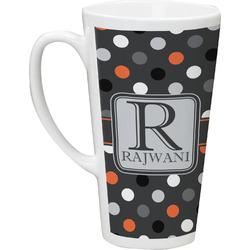 Gray Dots Latte Mug (Personalized)