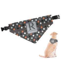 Gray Dots Dog Bandana (Personalized)