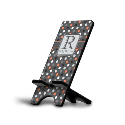 Gray Dots Cell Phone Stands (Personalized)