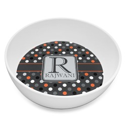 Gray Dots Melamine Bowl 8oz (Personalized)