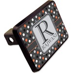 Gray Dots Rectangular Trailer Hitch Cover - 2