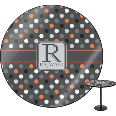 Gray Dots Round Table (Personalized)