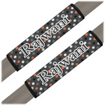 Gray Dots Seat Belt Covers (Set of 2) (Personalized)