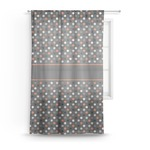 Gray Dots Sheer Curtains (Personalized)