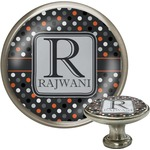 Gray Dots Cabinet Knobs (Personalized)