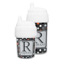 Gray Dots Sippy Cup (Personalized)