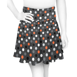 Gray Dots Skater Skirt (Personalized)