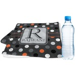Gray Dots Sports & Fitness Towel (Personalized)