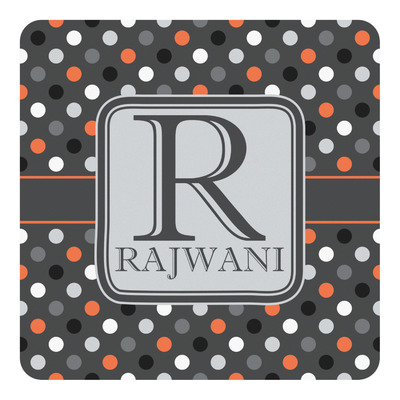 Gray Dots Square Decal - Custom Size (Personalized)