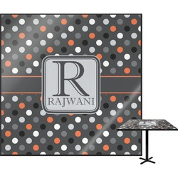 Gray Dots Square Table Top (Personalized)