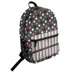 Gray Dots Student Backpack (Personalized)