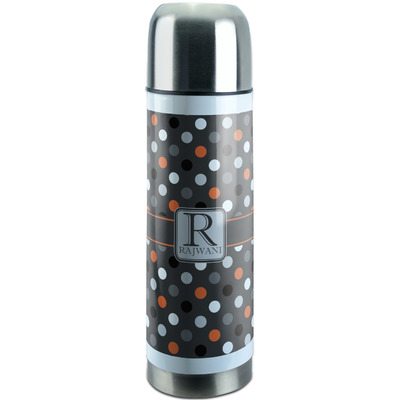 Gray Dots Stainless Steel Thermos (Personalized)