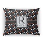 Gray Dots Rectangular Throw Pillow (Personalized)