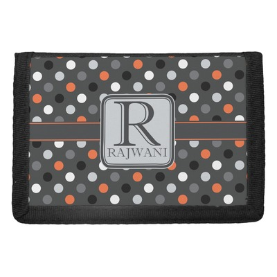 Gray Dots Trifold Wallet (Personalized)
