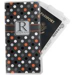 Gray Dots Travel Document Holder