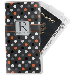 Gray Dots Travel Document Holder