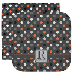Gray Dots Facecloth / Wash Cloth (Personalized)