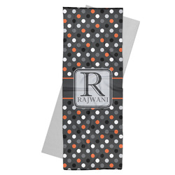Gray Dots Yoga Mat Towel (Personalized)