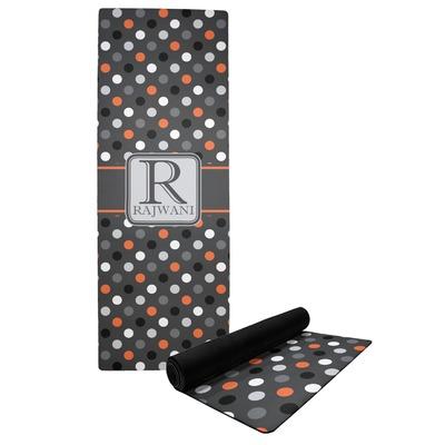 Gray Dots Yoga Mat (Personalized)