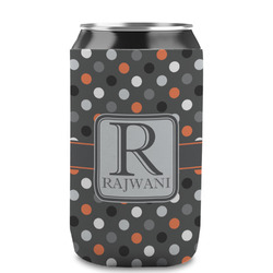 Gray Dots Can Sleeve (12 oz) (Personalized)