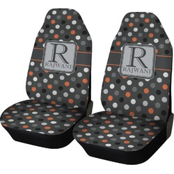 Gray Dots Car Seat Covers (Set of Two) (Personalized)