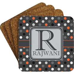 Gray Dots Coaster Set (Personalized)