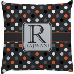 Gray Dots Decorative Pillow Case (Personalized)