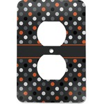 Gray Dots Electric Outlet Plate (Personalized)