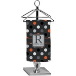 Gray Dots Finger Tip Towel - Full Print (Personalized)