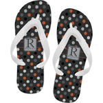 Gray Dots Flip Flops (Personalized)