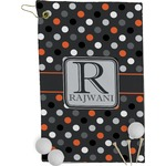 Gray Dots Golf Towel - Full Print (Personalized)