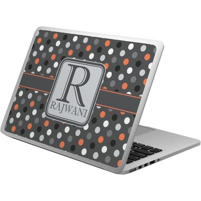 Gray Dots Laptop Skin - Custom Sized (Personalized)
