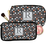 Gray Dots Makeup / Cosmetic Bag (Personalized)