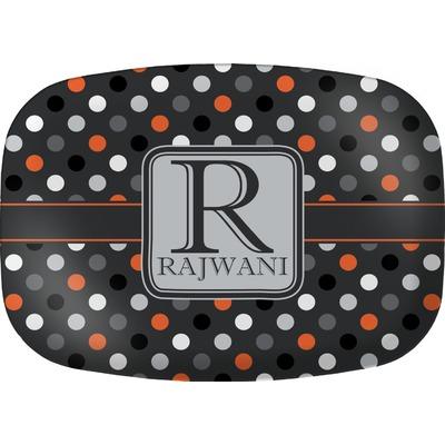 Gray Dots Melamine Platter (Personalized)