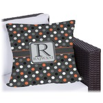 Gray Dots Outdoor Pillow (Personalized)