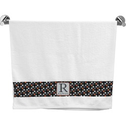 Gray Dots Bath Towel (Personalized)