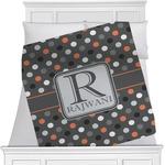 Gray Dots Minky Blanket (Personalized)