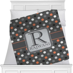 Gray Dots Blanket (Personalized)