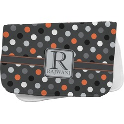 Gray Dots Burp Cloth (Personalized)
