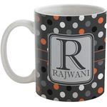 Gray Dots Coffee Mug (Personalized)