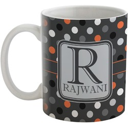 Gray Dots Coffee Mug (Personalized)