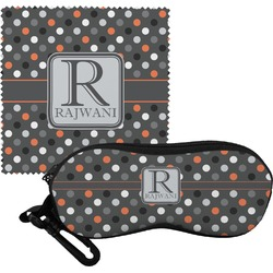 Gray Dots Eyeglass Case & Cloth (Personalized)