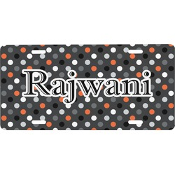 Gray Dots Front License Plate (Personalized)