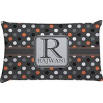 Gray Dots Pillow Case (Personalized)
