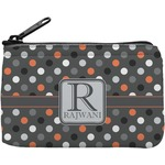 Gray Dots Rectangular Coin Purse (Personalized)