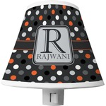 Gray Dots Shade Night Light (Personalized)