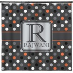 Gray Dots Shower Curtain (Personalized)